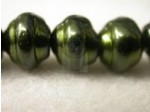Czech Glass Baroque Pearl Bead 10mm, Green (Pkg of 300 Pieces)