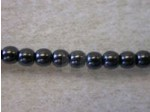 Czech Glass Smooth Round Pearl Bead 3mm, Jet Black (Pkg of 600 Pieces)