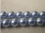 Czech Glass Smooth Round Pearl Bead 6mm, Sapphire (Pkg of 300 Pieces)