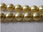 Czech Glass Smooth Round Pearl Bead 6mm, Gold (Pkg of 300 Pieces)