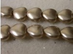 Czech Glass Heart Pearl Bead 8mm, Mocha (Pkg of 300 Pieces)