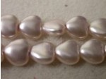 Czech Glass Heart Pearl Bead 8mm, Pale Lilac (Pkg of 300 Pieces)