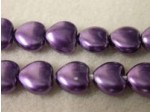 Czech Glass Heart Pearl Bead 8mm, Amethyst (Pkg of 300 Pieces)