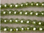 Czech Glass Baroque Pearl Bead 3mm, Mint (Pkg of 600 Pieces)
