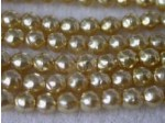 Czech Glass Baroque Pearl Bead 3mm, Gold (Pkg of 600 Pieces)