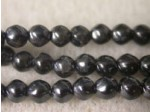 Czech Glass Baroque Pearl Bead 3mm, Jet (Pkg of 600 Pieces)
