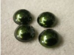 Czech Glass Pearl Cabochon 10mm, Hunter Green (Pkg of 300 Pieces)