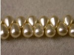 Czech Glass Drop Top Drill Pearl 4x6mm, Cream (Pkg of 600 Pieces)