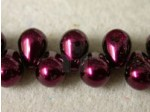Czech Glass Drop Top Drill Pearl 6x8mm, Garnet (Pkg of 300 Pieces)