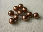 Czech Glass Half Drilled Pearl Bead 6mm, Copper (Pkg of 300 Pieces)