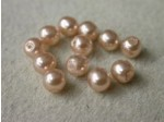 Czech Glass Half Drilled Pearl Bead 6mm, Mauve (Pkg of 300 Pieces)