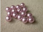 Czech Glass Half Drilled Pearl Bead 6mm, Lilac (Pkg of 300 Pieces)