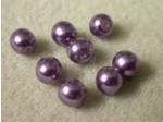 Czech Glass Half Drilled Pearl Bead 6mm, Amythest (Pkg of 300 Pieces)