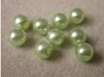 Czech Glass Half Drilled Pearl Bead 6mm, Mint Green (Pkg of 300 Pieces)