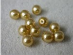 Czech Glass Half Drilled Pearl Bead 6mm, Gold (Pkg of 300 Pieces)