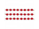 8mm Ruby Gold Linked Bead Chain