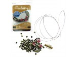Do It Yourself Coolwery Beading Kit Glamour Green/Pink FP Three Strand Bracelet