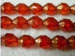 Czech Glass Fire Polished Antique Cathedral Swirl Bead 8x6mm, Light Orange, (Pkg of 300 Pieces)