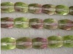 Czech Glass Fire Polished Log Bead 10x7mm, Amethsyt Jonquil Combo, (Pkg of 300 Pieces)