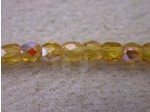 Czech Glass Fire Polished Round Bead 3mm, Amber AB, (Pkg of 600 Pieces)
