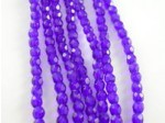 "Czech Glass Fire Polished Round Bead 4mm, Cobalt, 7"" Strand"