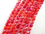 "Czech Glass Fire Polished Bead, Red Mix, 7"" Strand"