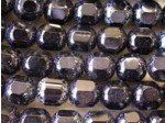 Czech Glass Fire Polished Antique Picasso Cathedral Bead 8mm, Jet Black, (Pkg of 300 Pieces)