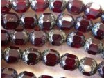 Czech Glass Fire Polished Antique Picasso Cathedral Bead 8mm, Garnet Red, (Pkg of 300 Pieces)