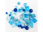 Preciosa Czech Crystal Shape Mix, Aqua
