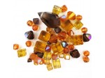 Preciosa Czech Crystal Shape Mix, Brown