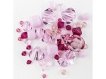 Preciosa Czech Crystal Shape Mix, Pink