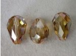 Preciosa Czech Crystal Pear Bead 10.5x7mm, Crystal Celcia