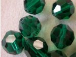 Preciosa Czech Round Crystal Bead 14mm, Emerald Green