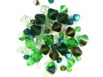 Preciosa Czech Crystal Bicone Bead Mix, Green