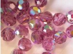 Preciosa Czech Round Crystal Bead 3mm, Amethyst AB Coated