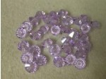 Preciosa Czech Crystal 4x6mm Spacer, Violet Pkg. of 4