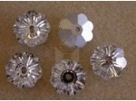 10mm Preciosa Crystal Sew On Flower, Crystal Silver