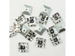 6x6mm Preciosa Crystal Sew On Square, Crystal