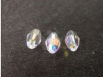 Preciosa Czech Crystal Olive Bead 6x4mm, Clear AB