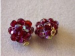 Czech Glass Fire Polished Ball Bead, Ruby Red AB Coated