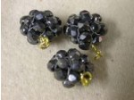 Czech Glass Fire Polished Ball Bead HeMatteite, Gold Loop