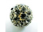 Czech Rhinestone Fancy Ball Crystal Silver