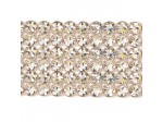 Czech Rhinestone Metal Banding, 6-Row Crystal AB in Silver Setting, ss19