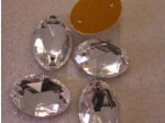 Czech Rhinestone Crystal Sew-on Oval 16mm, Crystal