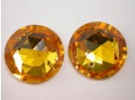 22mm Crystal Sew On 2-Hole Rivoli, Amber