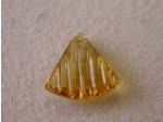20mm Crystal, Sew On, Triangle Lt Amber