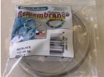 Remembrance Memory Wire, Round, Necklace, Bright, 1 oz (28.35 g), appx 36 coils/pack