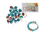 Do It Yourself Beading Kit, Fire Polished Evalina Mixed Beads