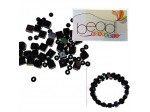 Do It Yourself Beading Kit, Fire Polished Jet Cube Mixed Beads