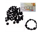 Do It Yourself Beading Kit, Fire Polished Jet Mixed Beads